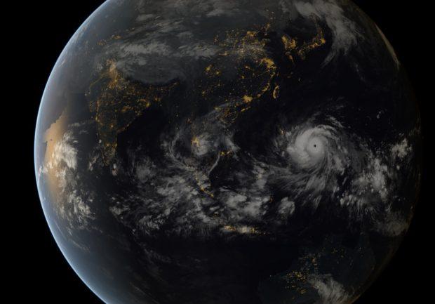 Typhoon Haiyan. Copyright 2013 JMA/EUMETSAT