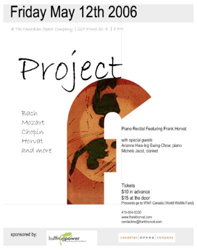 ProjectF - Frank Horvat Concert Poster