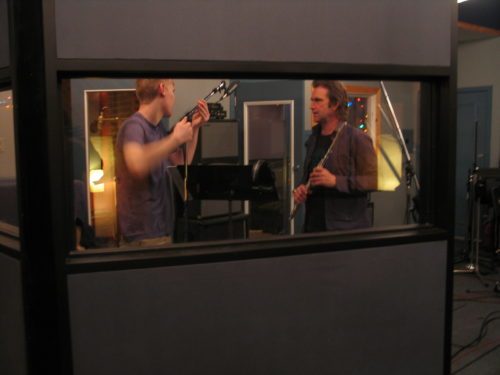 Julian Decorte and Jamie Thompson getting ready to record Me by Frank Horvat