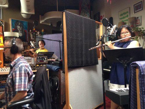 Jean Martin, Christopher Lee and Samantha Chang recording diskriminatsiya by Frank Horvat