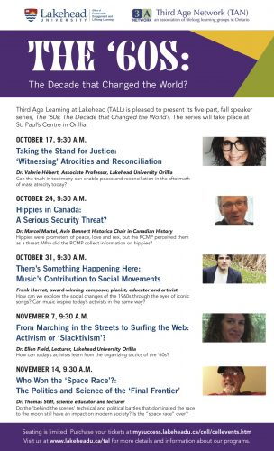 Lakehead University Lecture Series Poster