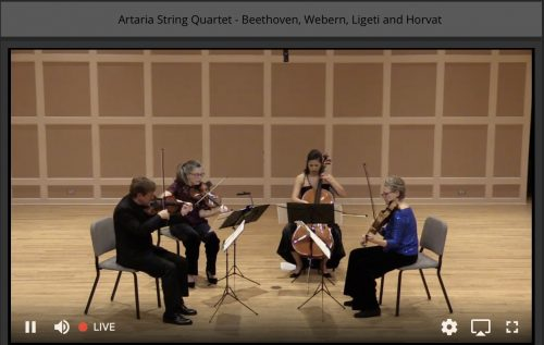 Artaria String Quartet performs mvt11 of The Thailand HRDs by Frank Horvat - #music4hrds