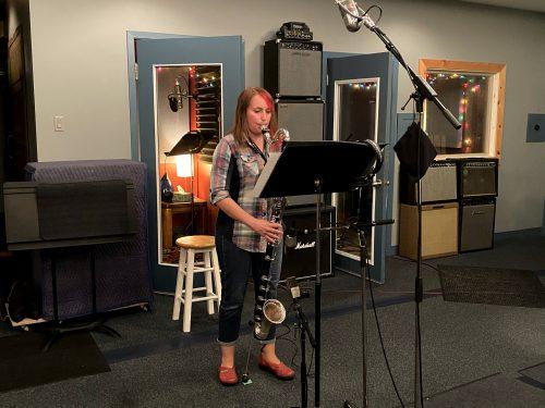 Kathryn Ladano recording Frank Horvat's Alchemist's Brew