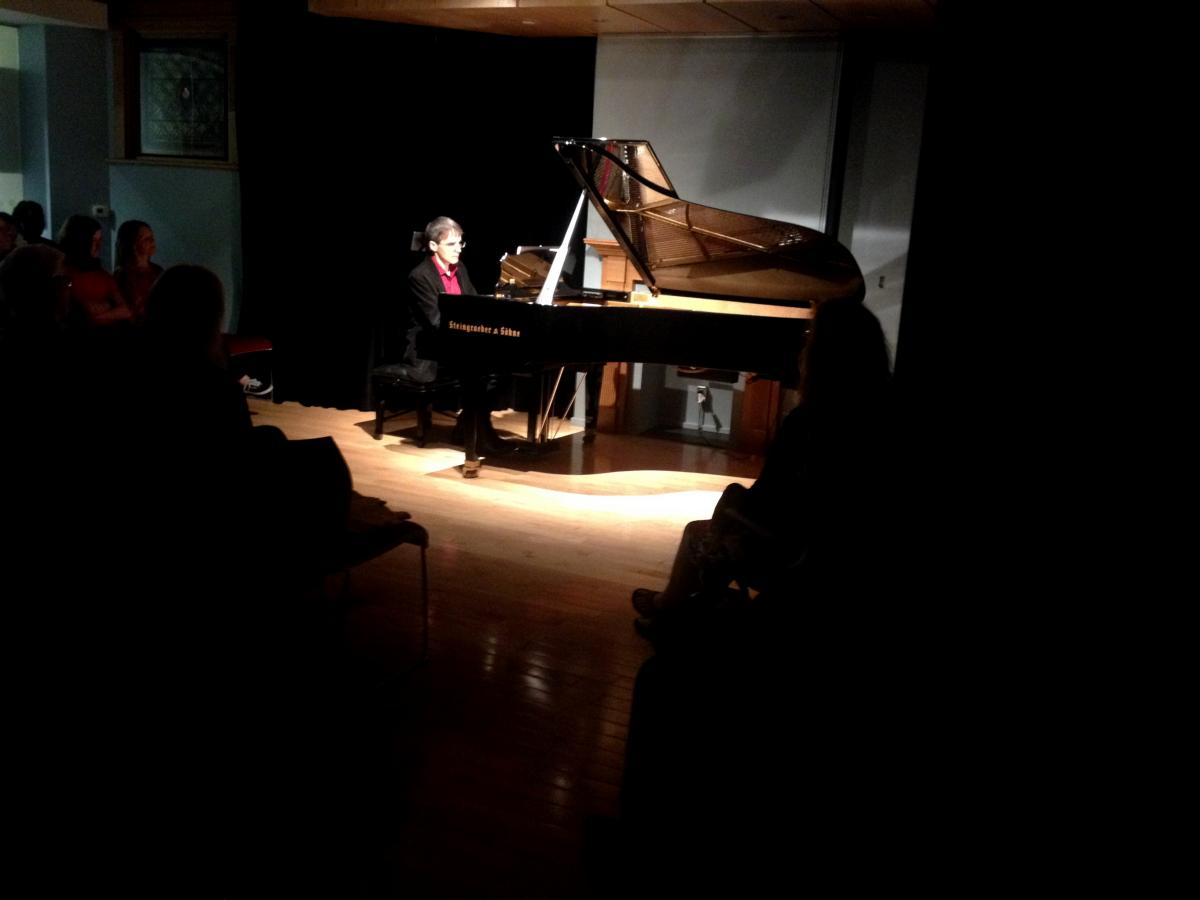 Frank Horvat performs at his Piano Therapy Concert