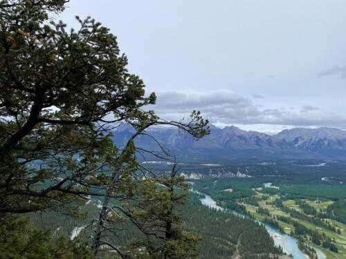 On top of Sleeping Buffalo looking at the Bow River