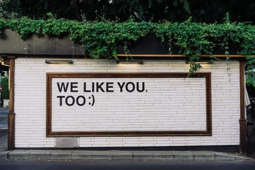We like you (Photo by Adam Jang on Unsplash)